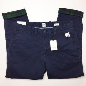 NWT GAP men's mid rise slim leg chinos Navy Blue